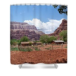 Shower Curtain featuring the photograph Havasupai Village Panorama by Alan Socolik