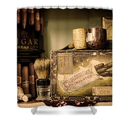 Have A Cigar Shower Curtain by Heather Applegate