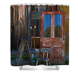 Have A Seat Shower Curtain by Michael Porchik