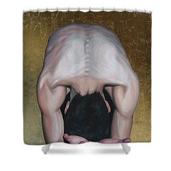 Have Mercy Shower Curtain by Jindra Noewi