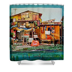House Of Reused Building Materials Shower Curtain