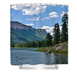 Shower Curtain featuring the photograph Haviland Lake by Janice Rae Pariza