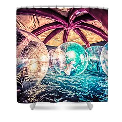 Having A Ball Shower Curtain by Ray Warren