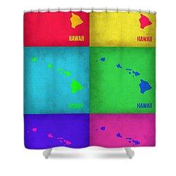 Hawaii Pop Art Map 1 Shower Curtain