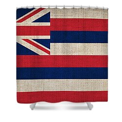 Hawaii State Flag  Shower Curtain by Pixel Chimp