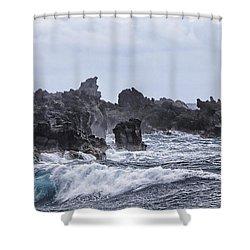 Hawaii Waves V1 Shower Curtain by Douglas Barnard