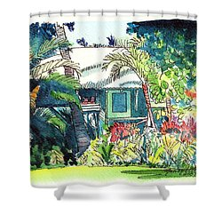 Hawaiian Cottage 3 Shower Curtain by Marionette Taboniar