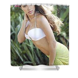 Hawaiian Girl Shower Curtain by Vince Cavataio