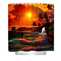 Hawaiian Islands Shower Curtain