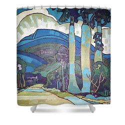 Hawaiian Landscape Shower Curtain by Pg Reproductions