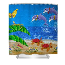 Hawaiian Lei Day Shower Curtain by Pamela Allegretto
