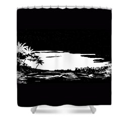 Shower Curtain featuring the digital art Hawaiian Night by Anthony Fishburne