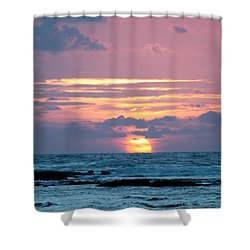 Hawaiian Ocean Sunrise Shower Curtain by Lehua Pekelo-Stearns