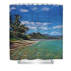 Hawaiian Paradise Shower Curtain by Richard Nowak
