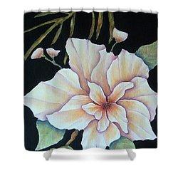 Hawaiian Pua Shower Curtain by Pamela Allegretto