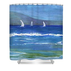 Shower Curtain featuring the painting Hawaiian Sail by Jamie Frier