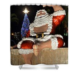 Hawaiian Santa Shower Curtain