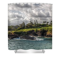 Hawaiian Shores Shower Curtain by Bill Lindsay