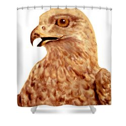 Shower Curtain featuring the digital art Hawk by Terry Frederick