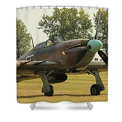 Hawker Hurricane Taxing Shower Curtain