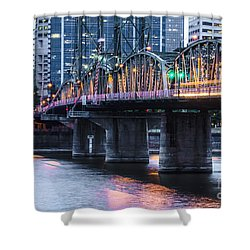 Hawthorne Bridge Portland Oregon Shower Curtain