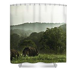 Hay Bales Shower Curtain by Shane Holsclaw
