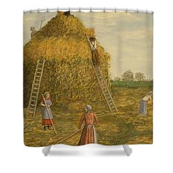 Hay Days. Shower Curtain by Larry Lamb