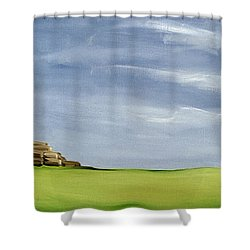 Haybarn Dreaming Shower Curtain by Ana Bianchi