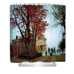 Hayesville Academy Vermillion Institute Shower Curtain