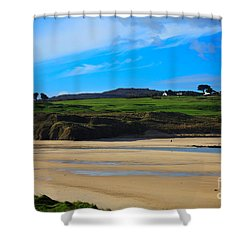 Hayle Estuary Cornwall Shower Curtain by Louise Heusinkveld