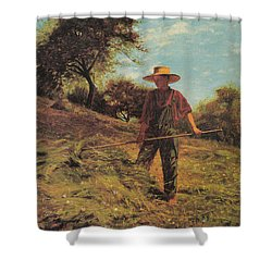 Haymaking Shower Curtain by Winslow Homer