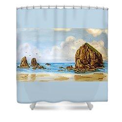 Haystack Relief Shower Curtain