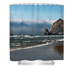 Haystack Shower Curtain by Robert Bales