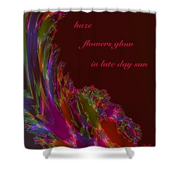 Shower Curtain featuring the digital art Haze Haiga by Judi Suni Hall