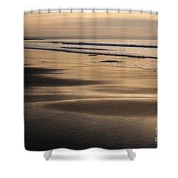 Hazy Croyde Shower Curtain by Anne Gilbert