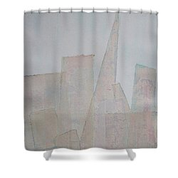 Hazy Fog Clearing Over San Francisco Shower Curtain