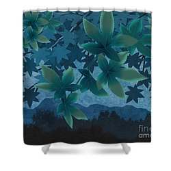 Hazy Shades - Evening Version Shower Curtain by Bedros Awak
