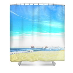 Hb Pier 7 Shower Curtain by Margie Amberge