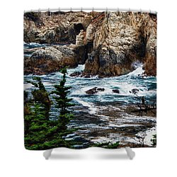 hd 429 The Toe 3 Shower Curtain by Chris Berry