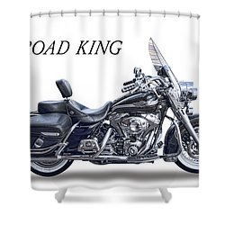 H D Road King Shower Curtain by Daniel Hagerman