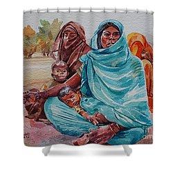 Hdndoh Eastern Sudan Shower Curtain by Mohamed Fadul