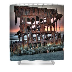 Hdr Peter Iredale Shower Curtain by James Hammond