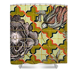 Hdr Tiled Flowers Shower Curtain