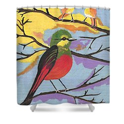 He Aint That Tweet - Bird Art Shower Curtain