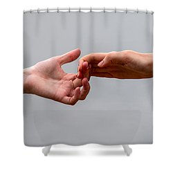 He And She - Featured 3 Shower Curtain by Alexander Senin