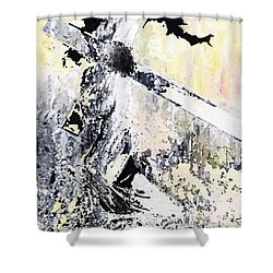 He Loved Us More Shower Curtain by Kume Bryant