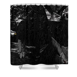 He Never Came Home Shower Curtain by Kristie  Bonnewell