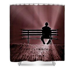 Shower Curtain featuring the photograph He Spoke Light Into The Darkness by Micki Findlay