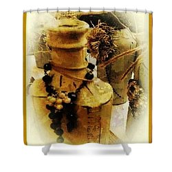Shower Curtain featuring the mixed media He Turned Water Into Wine by Ray Tapajna