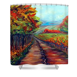 He Walks With Me Shower Curtain by Meaghan Troup